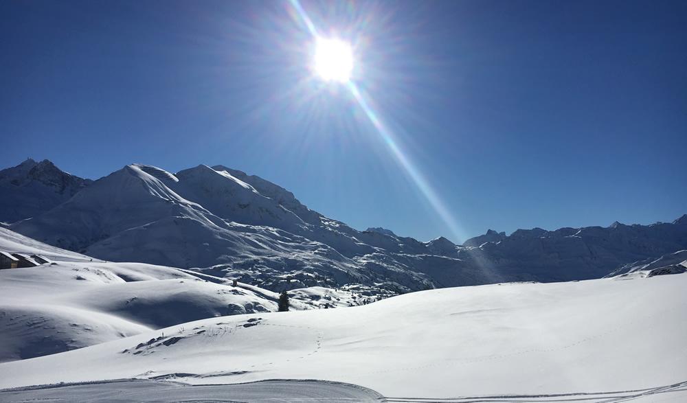 veel sneeuw in de noord alpen