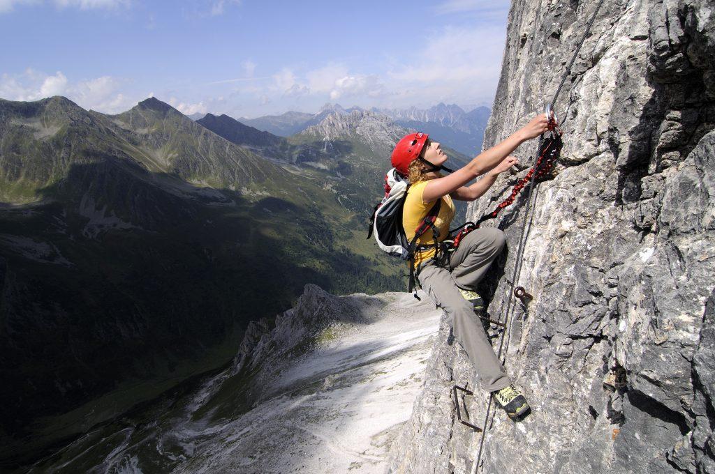 klimmen op een rots ijswand