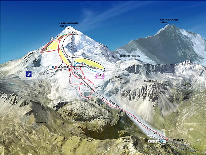 Gletsjer Tignes zomerskiën