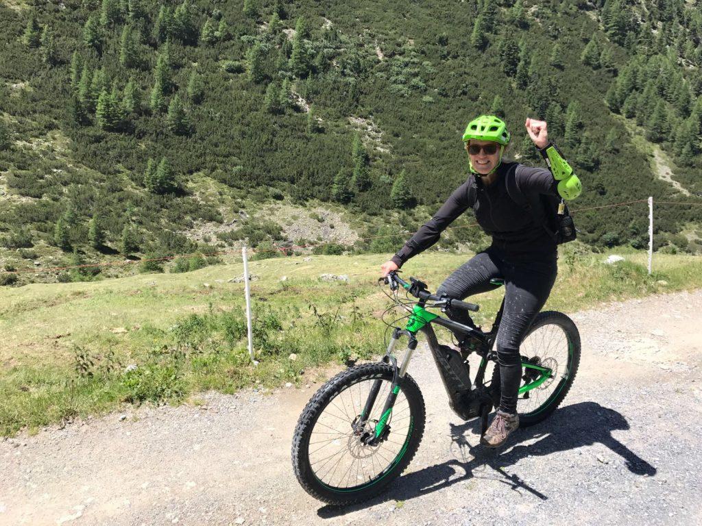 Bergop met de e-mountainbike