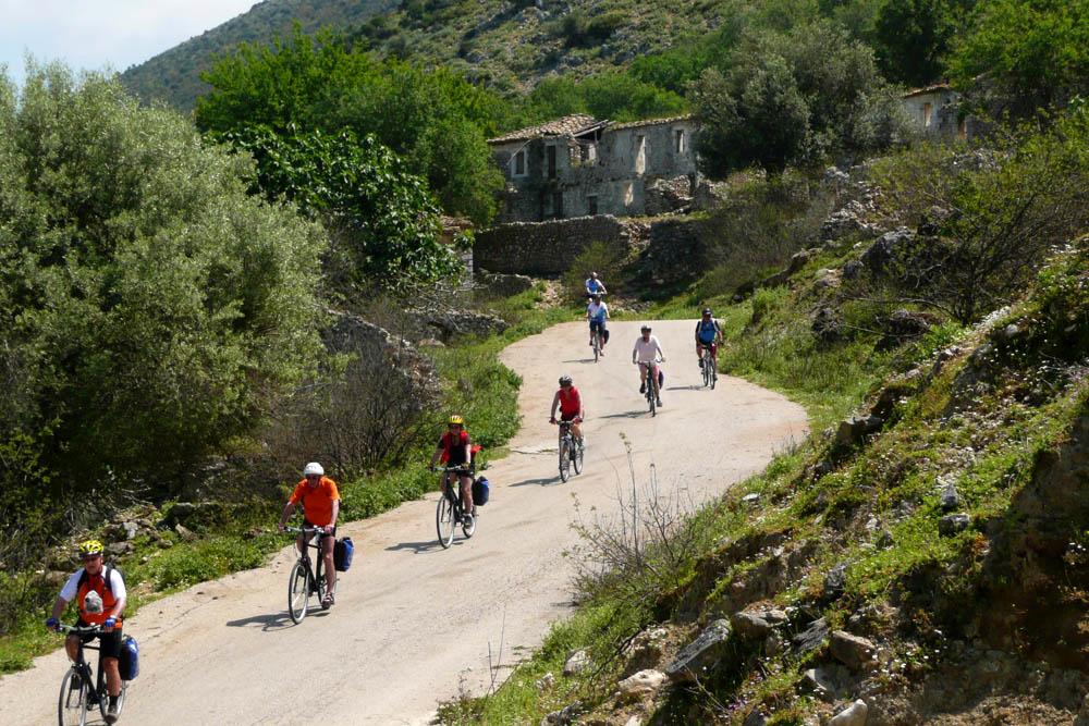 fietsen op corfu