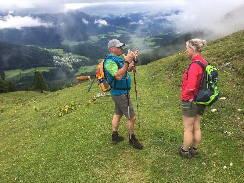 De hike naar de Stuhlalm onder leiding van Georg