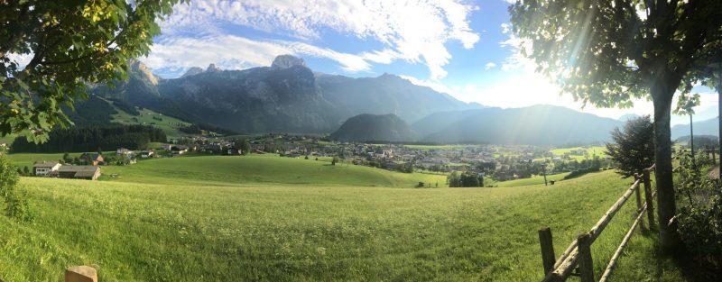 Uitzicht vanaf Zur Sonnleit'n in Abtenau