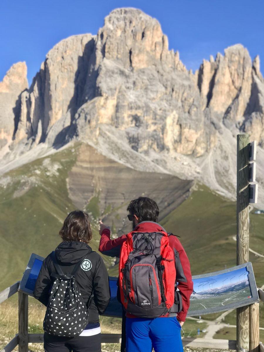 Hiken in Val di Fassa in Italië. Foto: Pauline van der Waal