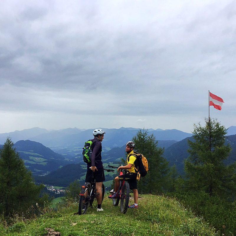 Ondanks dat het weer niet geweldig was tijdens onze fietstocht, was het uitzicht er niet minder om
