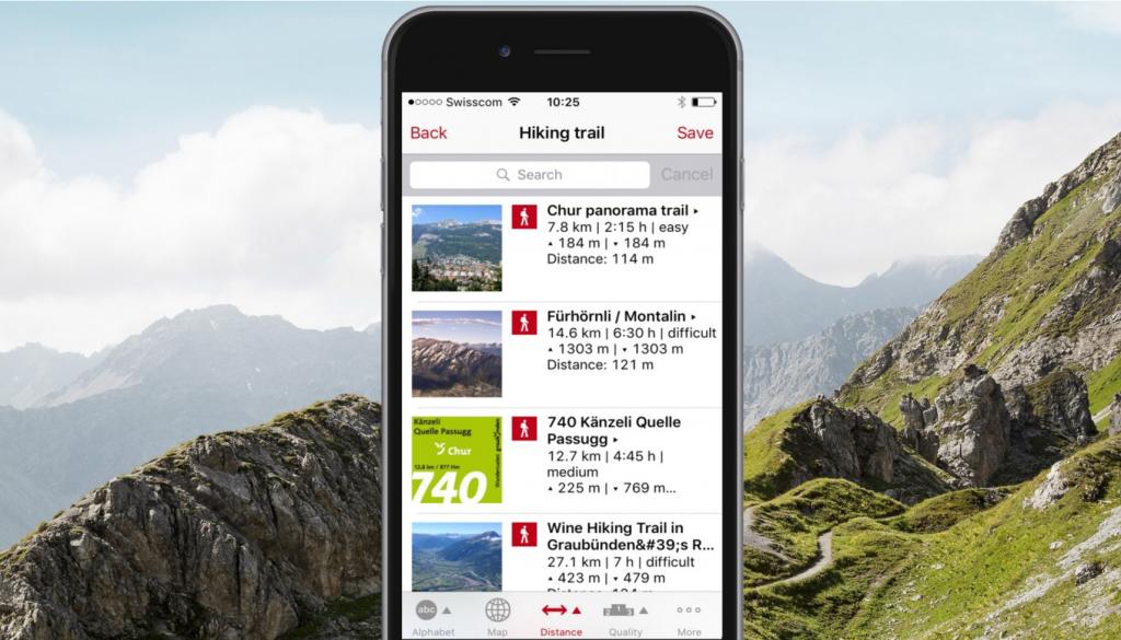 Graubünden Hike App Trails