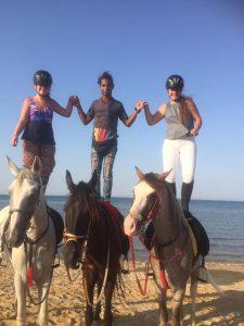 trucjes tijdens het paardrijden