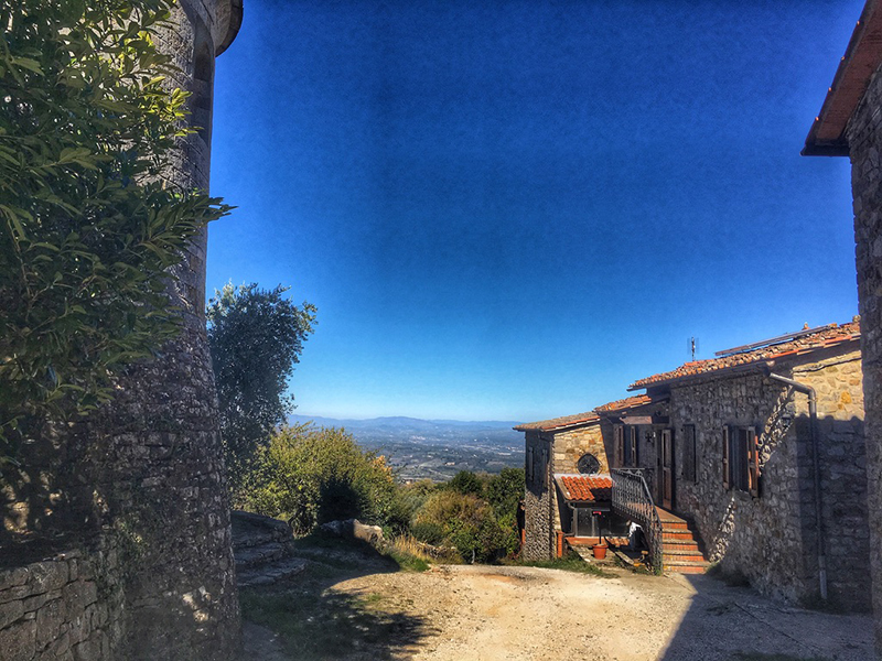 Toscane - Een van de vele kleine dorpjes