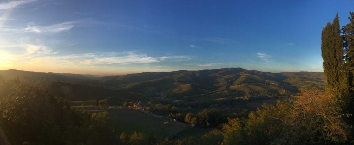 Uitzicht in Toscane
