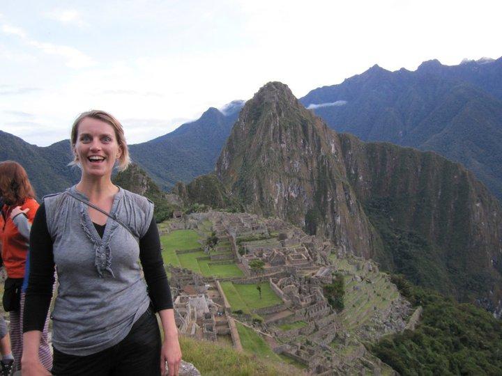 We hebben het gered! Zicht op Machu Picchu. Foto: Pauline van der Waal