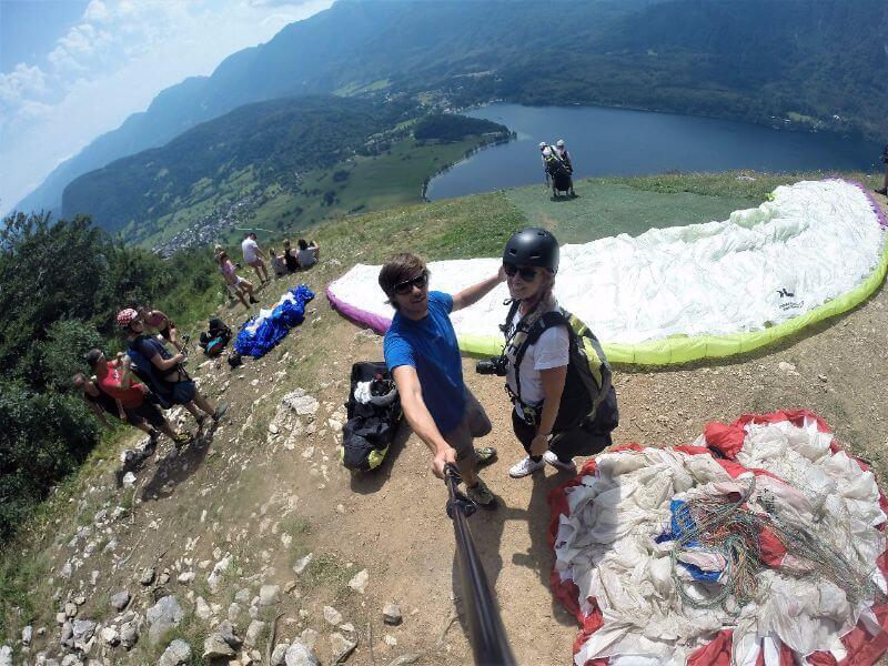 Boven op de berg