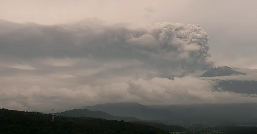Vulkaan Gunung Agung vannacht