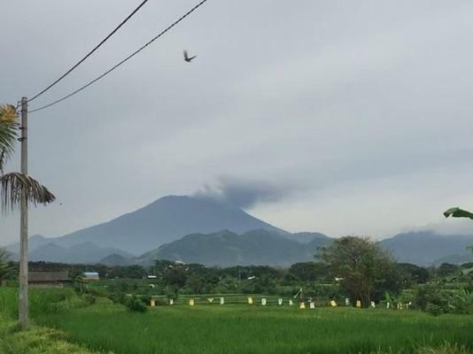 Eerste uitbarsting op 21 november 2017