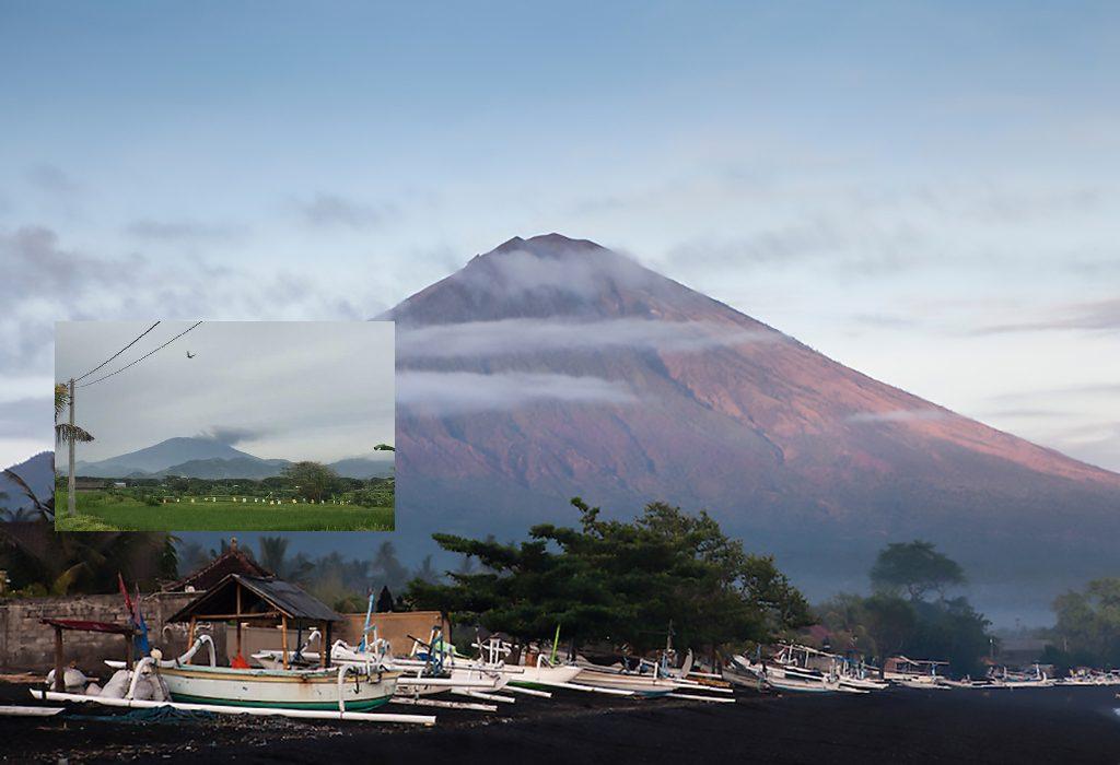 Gunung Agung met inzet de uitbarsting