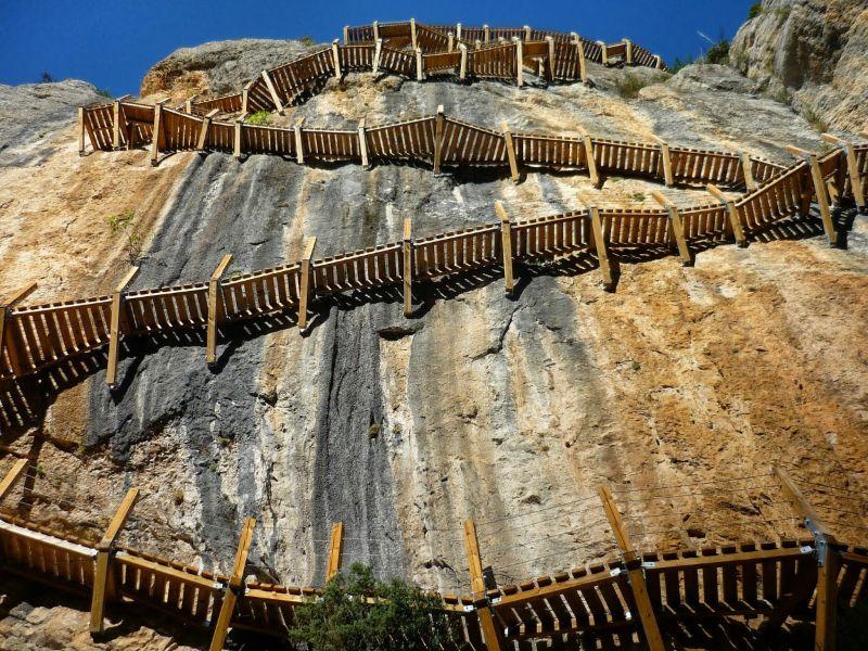 De houten trappen, Congost de Mont Rebei