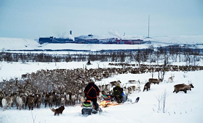 Kiruna in Zweeds Lapland