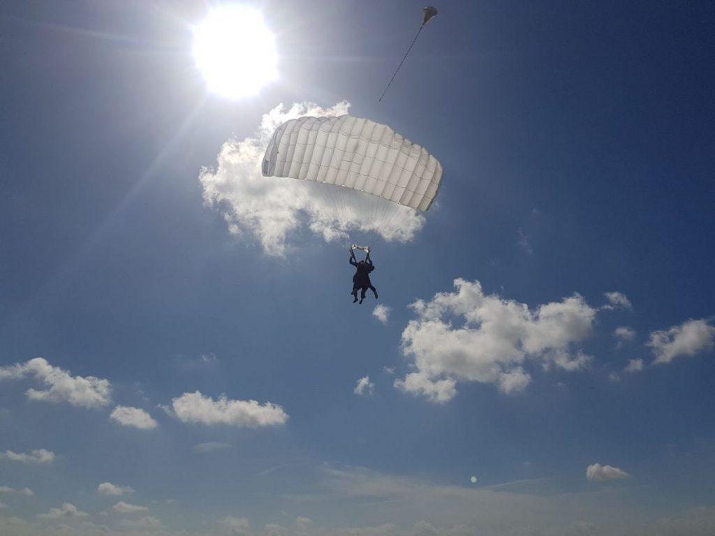 Skydive Texel landing