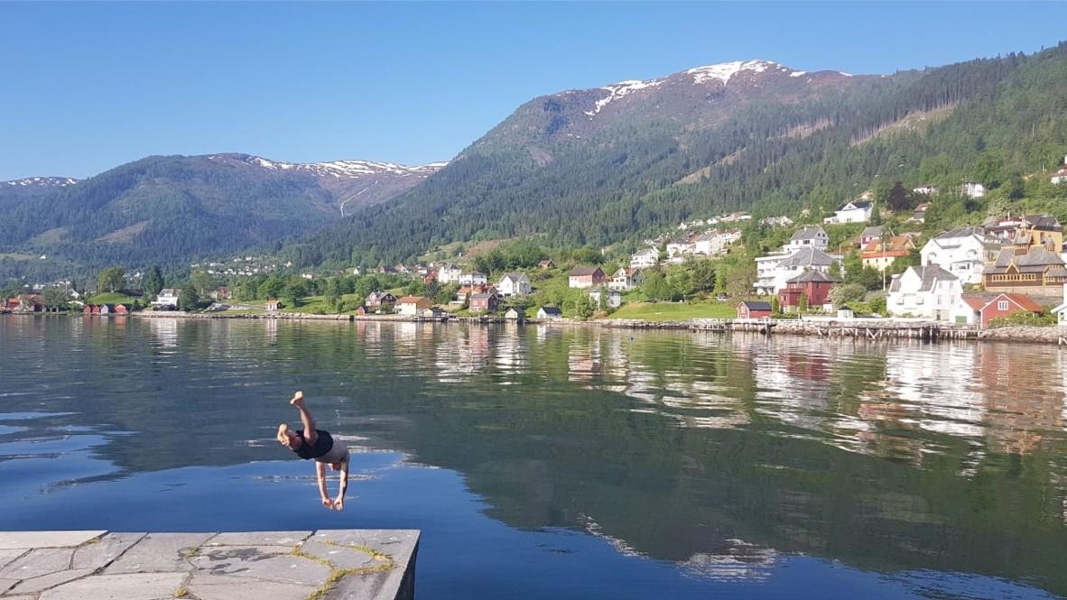 Fjord Sognefjorden in Noorwegen