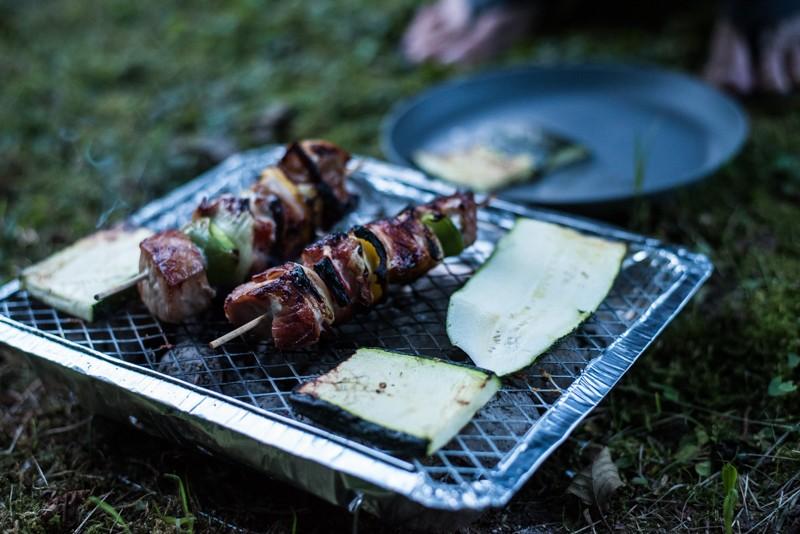 Barbecue op de camping