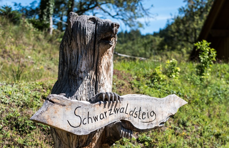 Versiering wandelroute Schwarzwaldsteig