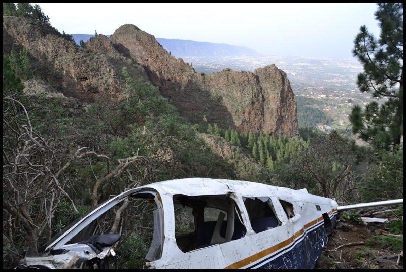 Het neergestorte vliegtuigje. Foto: Gandolf, Wikiloc