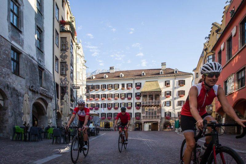 Alle wedstrijden finishen in het historische centrum van Innsbruck