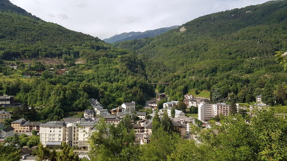 Uitzicht over Brides les Bains