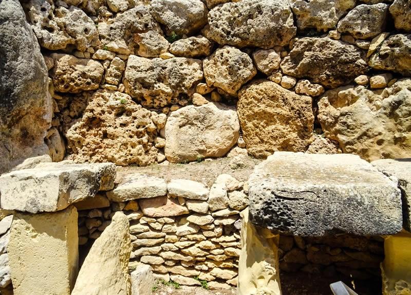 Megalithische tempels van Ġgantija. Foto: Edwin Hagenouw