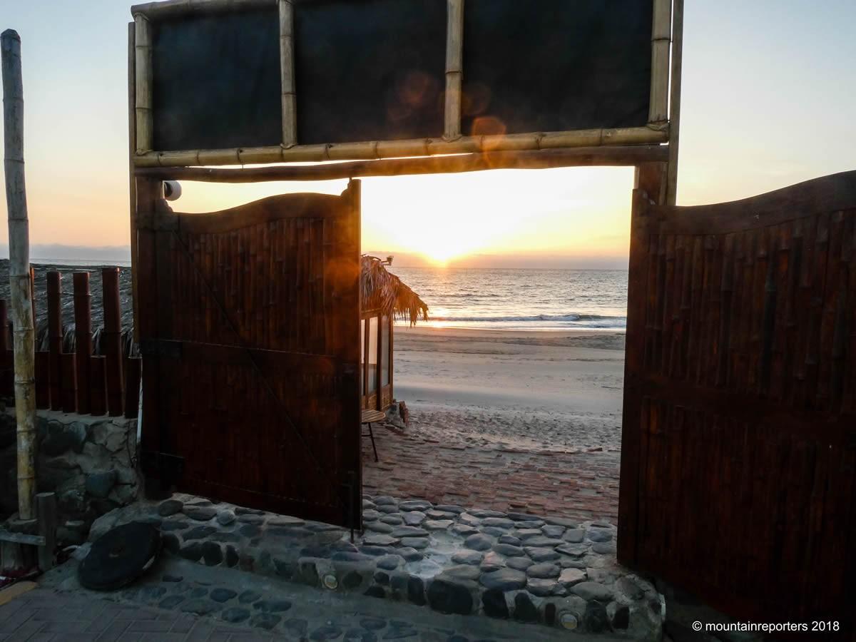 Sunset beach Peru
