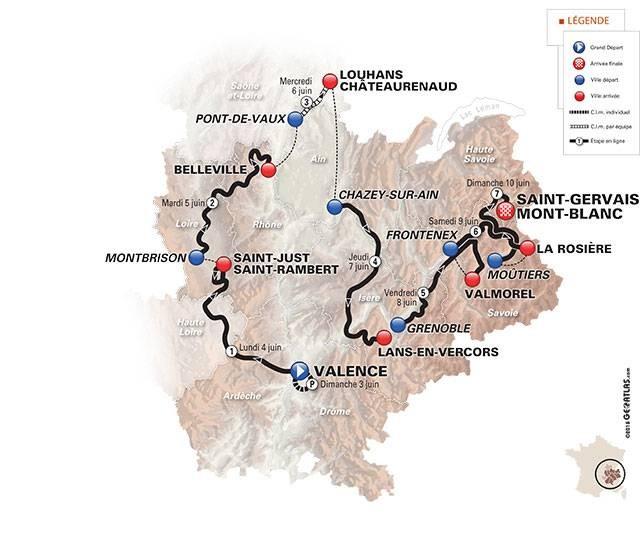Route Criterium du Dauphine 2018