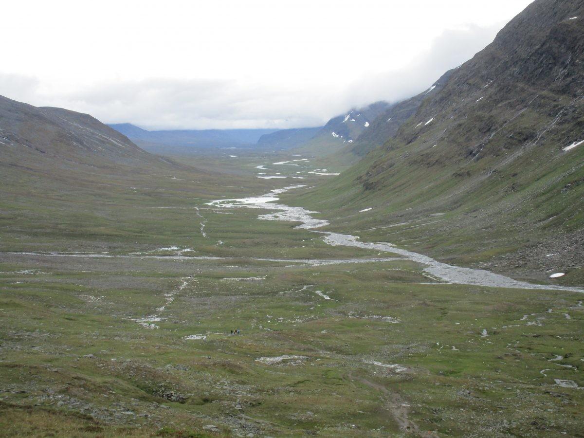 Boven op de Tjaktja Pass