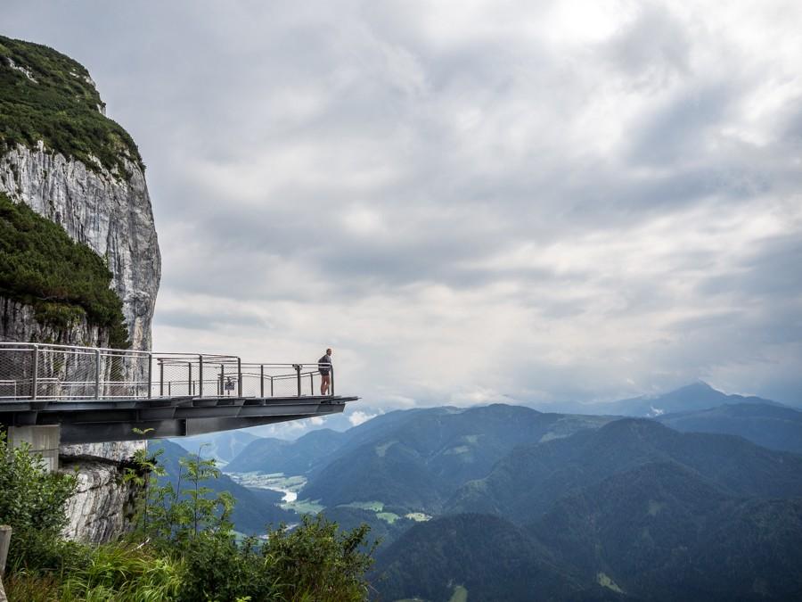 Steinplatte Waidring Pillerseetal uitkijkpunt