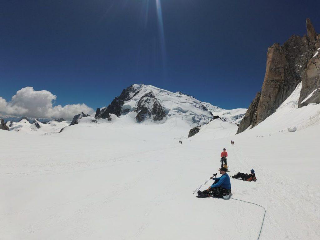 We nemen alle tijd om te genieten van onze tijd op de gletsjer