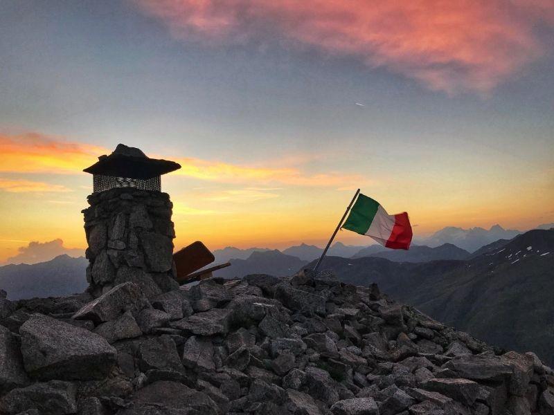 De top van de Monte dele Rezze