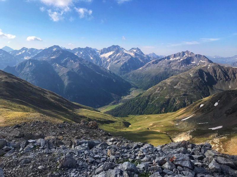 Uitzicht onderweg tijdens de hiketocht