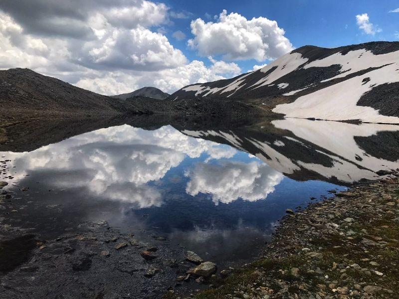 Bergmeer tijdens de hiketocht naar Livigno