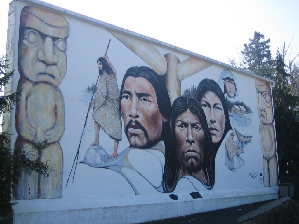 Muurschilderingen in Chemainus. Eigen foto: Noëlle Verhage