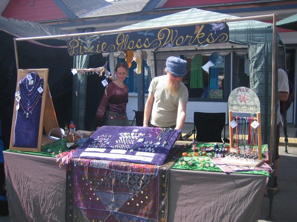 Hippie markt op Salt Spring Island. Eigen foto: Noëlle Verhage