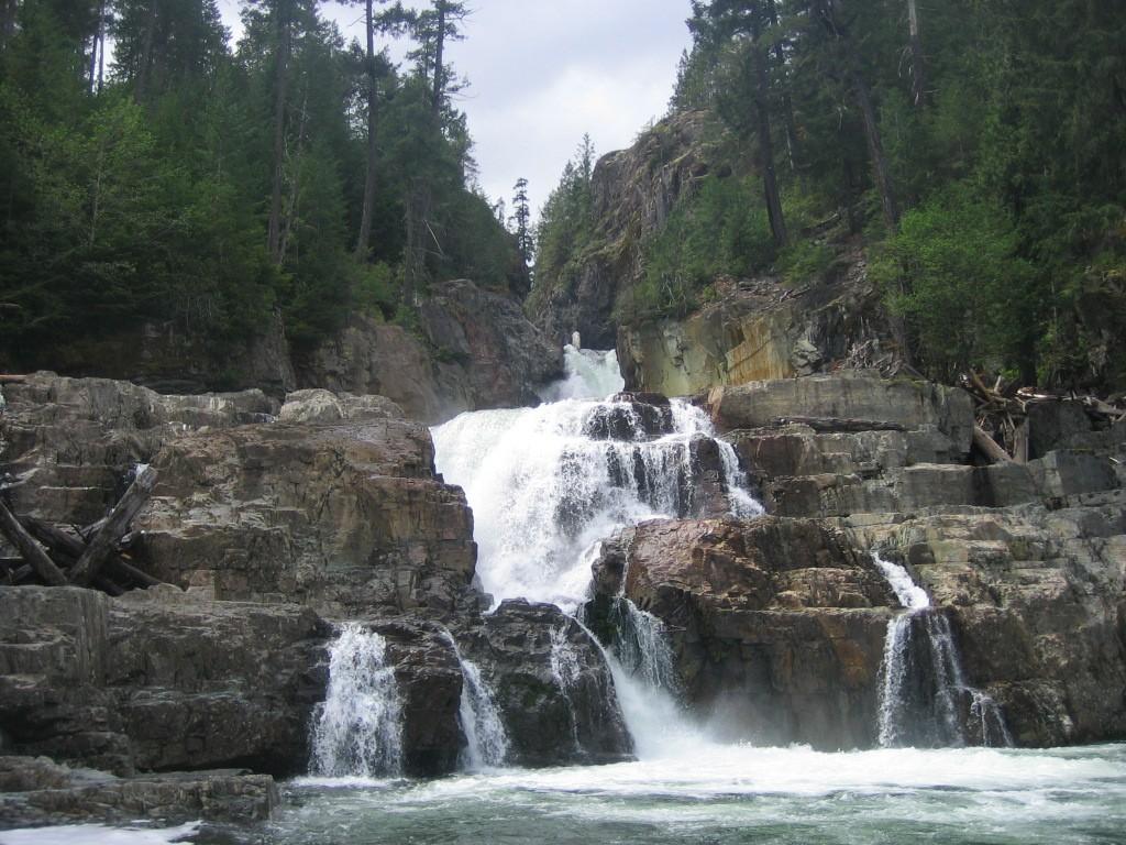 Myra Falls - Strathcona Provincial Park. Eigen foto: Noëlle Verhage