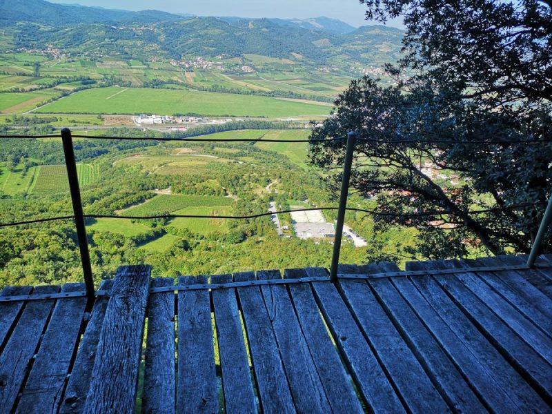 Plateau op de klimwand