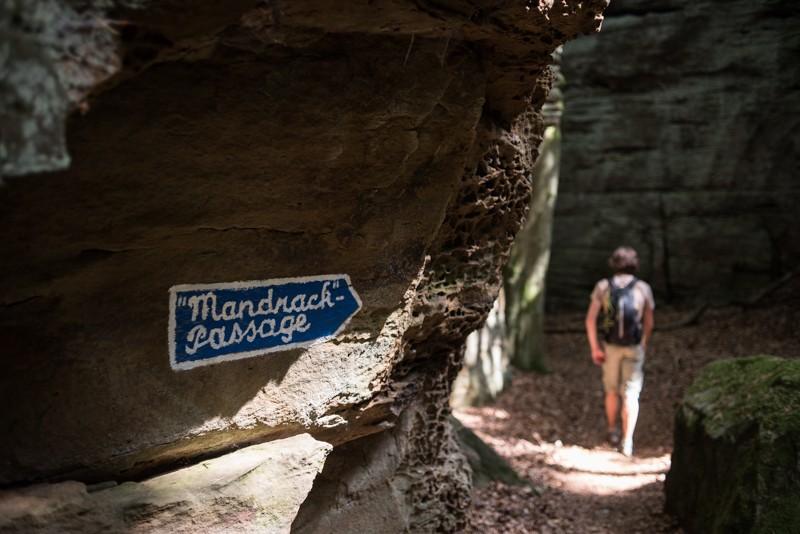 Een van de rotsformaties waar je 'in' kon wandelen | eigen foto: Manja Herrebrugh, Mountainreporters