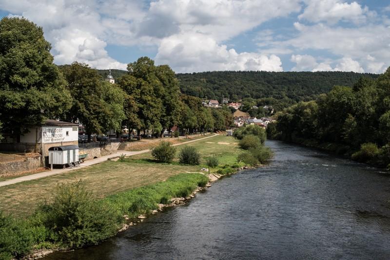 Zicht op de Sauer, op de grens Luxemburg - Duitsland - vlakbij het dorpje Bollendorf | eigen foto: Manja Herrebrugh, Mountainreporters