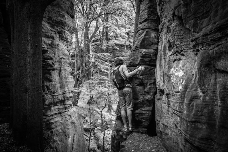 Een beetje de spanning en sensatie opzoeken... | eigen foto: Manja Herrebrugh, Mountainreporters