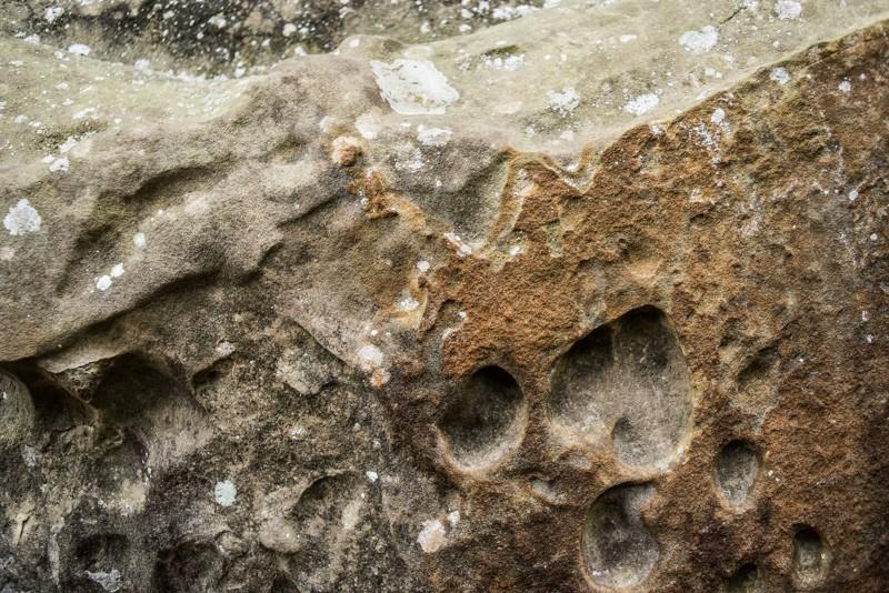 Het gesteente was van dichtbij een kunstwerk | eigen foto: Manja Herrebrugh, Mountainreporters
