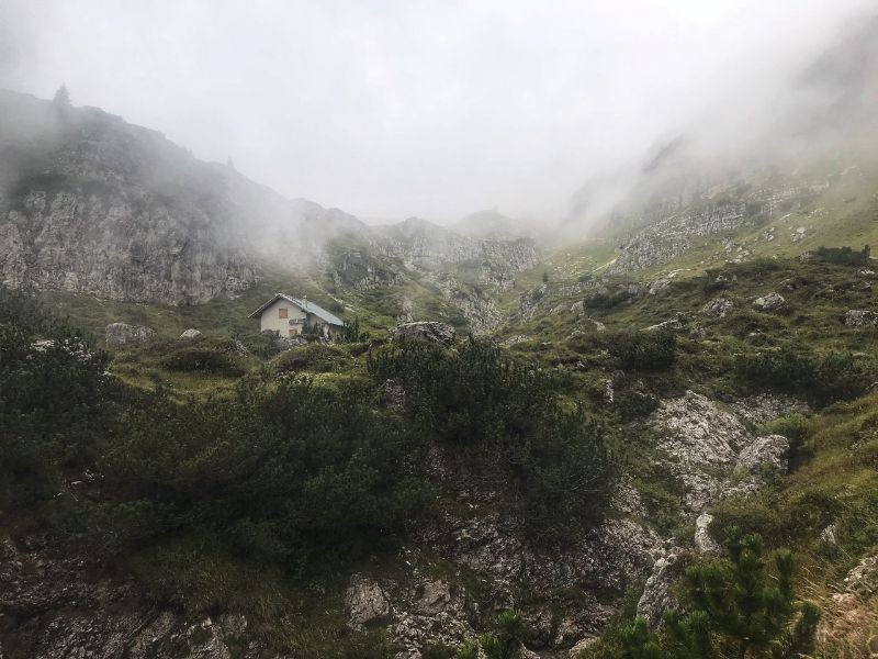 De tweede berghut op 2000 meter