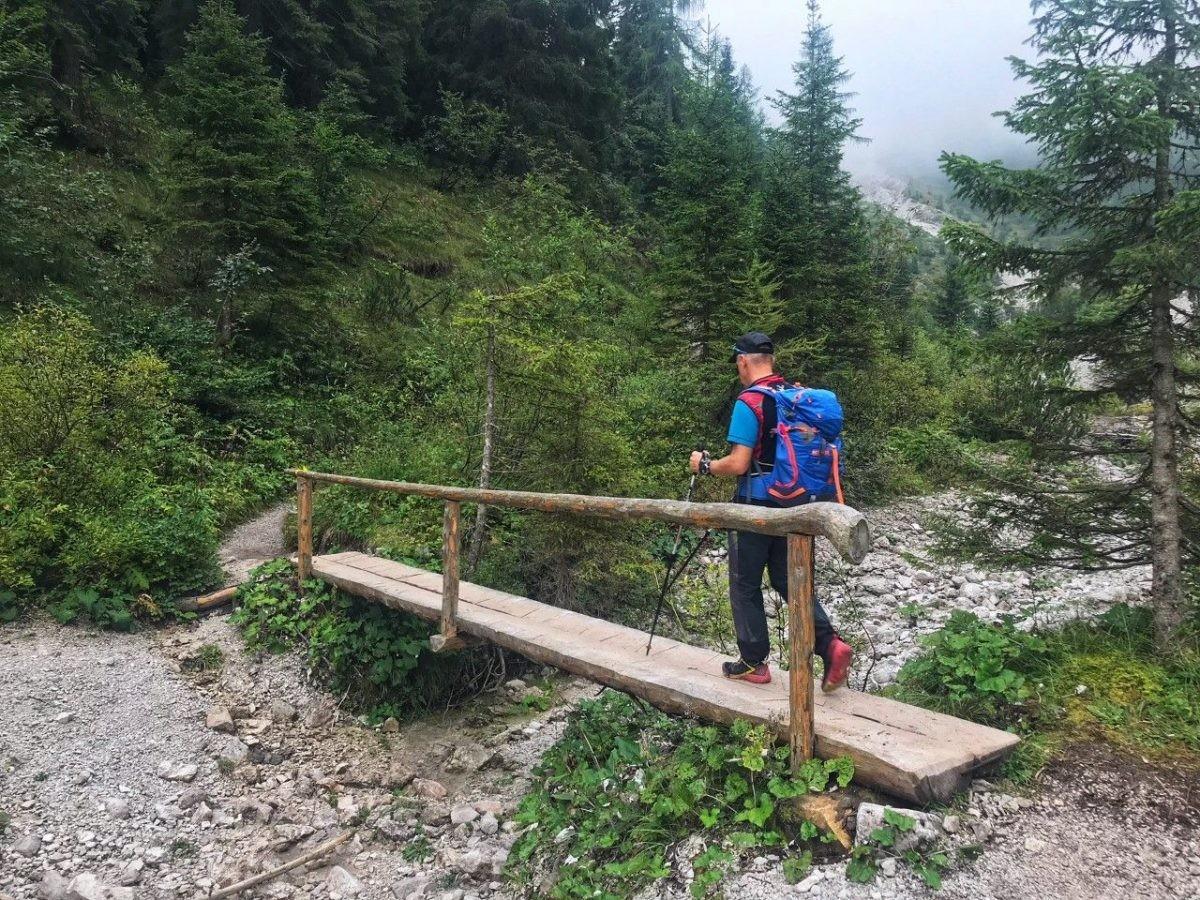 Hiken naar de top van de Rifugio Tosa e T.Pedrotti