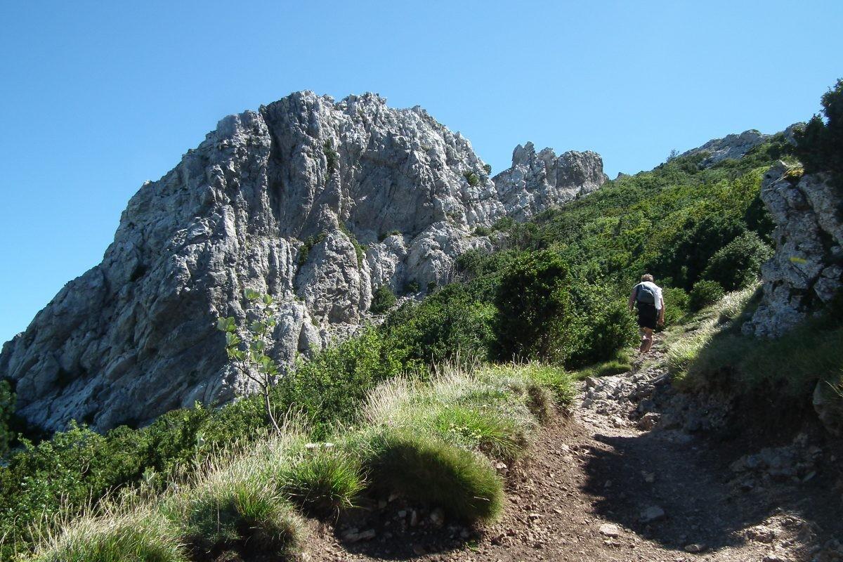De top van de Bugarach