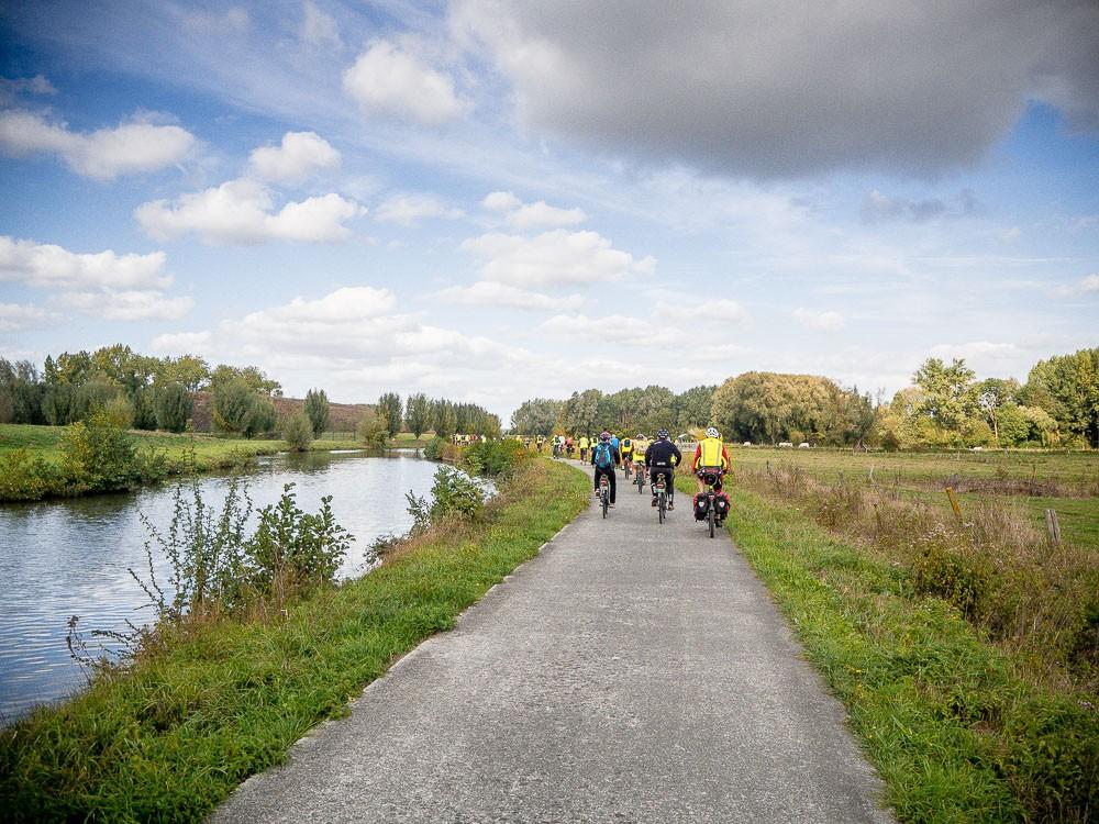 Fietstocht Wallonië kanalen