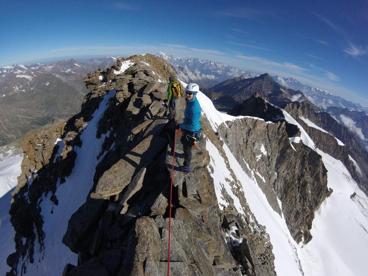 Rotsgraat onderweg naar de top