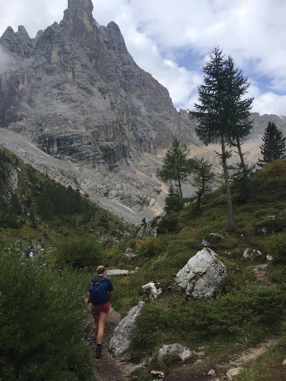 Een makkelijk pad naar Lago di Sorapis in de Dolomieten